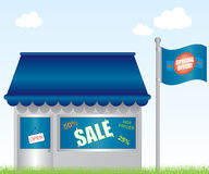 Market shop illustration Royalty Free Stock Photos