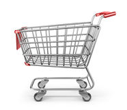 Market shopping cart 3D.  Stock Photo