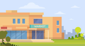 Market Shopping Mall Building Exterior Stock Images