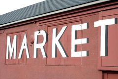 Market sign Stock Photos