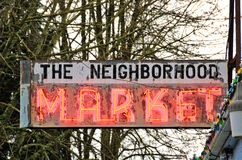 Market Sign Royalty Free Stock Images
