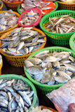 Market small business, raw fish Stock Image