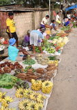 Market in Sorong. Traditional farmers market in Sorong (Papua Barat, Indonesia Royalty Free Stock Image