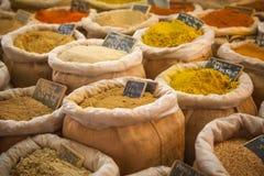 Market spices Provence France Stock Photos