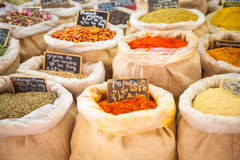 Market spices Provence France Stock Photos