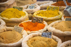 Market spices Provence France. Spices on a market in Provence, France Stock Photography
