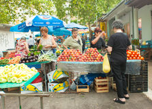 Market in Split Stock Photo