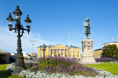Market square. In Karlskrona in Sweden stock photo