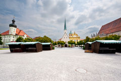 Market Square. Altotting in Bavaria, Market Square at the Early Morning royalty free stock photography