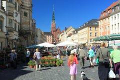 Market square in Altenburg Stock Images