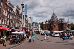 Market square in Amsterdam Royalty Free Stock Image