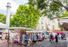 Market square in Antibes old town, France Royalty Free Stock Photography