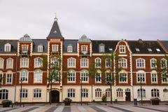 Market Square (Axeltorv) in Fredericia, Denmark Stock Images