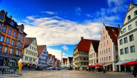 Market square in Biberach an der Ris Germany royalty free stock photography