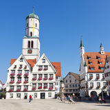 Market Square in Biberach, Germany Stock Photo