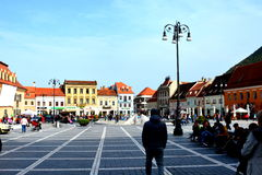 Market Square in Brasov, Transylvania Stock Photos