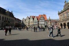 Market Square in Bremen, Germany. Market Square Marktplazt in Bremen, Germany Stock Photo