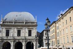 Market square of Brescia Royalty Free Stock Photo