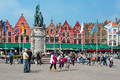 Market Square in Bruges Stock Image