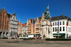 Market square in Bruges Stock Photos