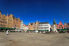 Market square in Bruges Royalty Free Stock Image