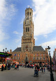 Market square in Bruges Belgium. Royalty Free Stock Image