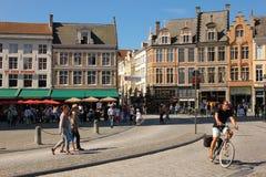 Market square. Bruges. Belgium Stock Images