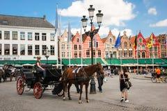 Market square. Bruges. Belgium Royalty Free Stock Image
