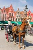 Market square. Bruges. Belgium Stock Image