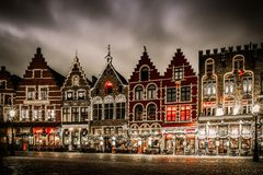Market square in Bruges, Belgium Royalty Free Stock Photos