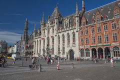 The Market Square in Bruges Royalty Free Stock Photos