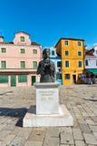 Market square in Burano near Venice, Italy Stock Photo