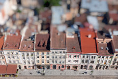 Market Square in a center of Lviv city, Ukraine. View from Lviv Stock Image