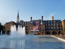 Market Square and City Hall in Old Town, Alexandria, Virginia. Royalty Free Stock Photography