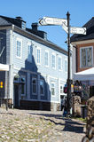The Market Square in City of Porvoo with city mark Royalty Free Stock Photography