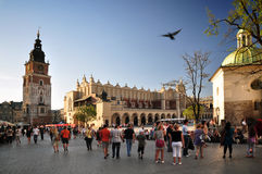 Market Square, Cracow. Cracow, Poland: Market Square in the afternoon Stock Images