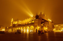 Market square in Cracow at night Royalty Free Stock Image