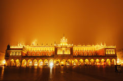 Market square in Cracow at night Stock Images