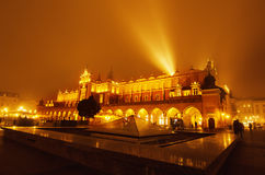 Market square in Cracow at night Royalty Free Stock Photos