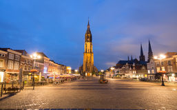 Market Square In Delft At Night Royalty Free Stock Images