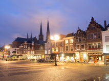 Market Square In Delft At Night Royalty Free Stock Photography