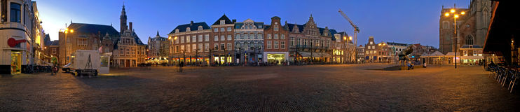 Market square Haarlem Stock Image