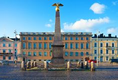 The Market Square in Helsinki, Finland Royalty Free Stock Photo