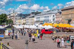 Market Square. Helsinki, Finland, EU Stock Image