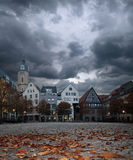 Market square in historical German town Stock Photo