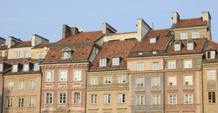 Market Square houses, Warsaw Royalty Free Stock Photography