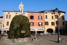 Market square at Iseo Royalty Free Stock Photography