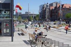 Market square in Katowice, Poland Royalty Free Stock Photo