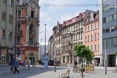 Market Square in Katowice, Poland Royalty Free Stock Photos