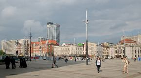 Market square in Katowice Stock Photography